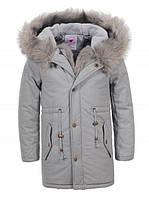 Парка пальто на меховой подкладке  на девочек 98 /128 см