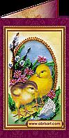 """Набор для вышивки бисером """"Пасхальная открытка-3″ AO-003"""