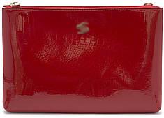 Женская кожаная сумочка клатч art. P-7016 red