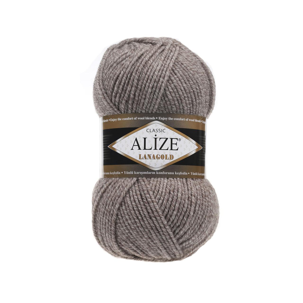 пряжа для ручного вязания Alize Lanagold ализе ланаголд Due 650
