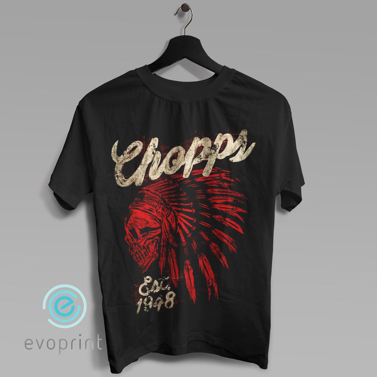 Заказать печать на черных футболках