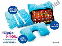 Подушка подставка Go Go Pillow 3 в 1 подходит для Apple iPad, iPad-мини, Samsung Galaxy Note, Kindle Fire