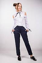 Школьная белая подростковая блуза  ТМ Фея с открытыми плечами