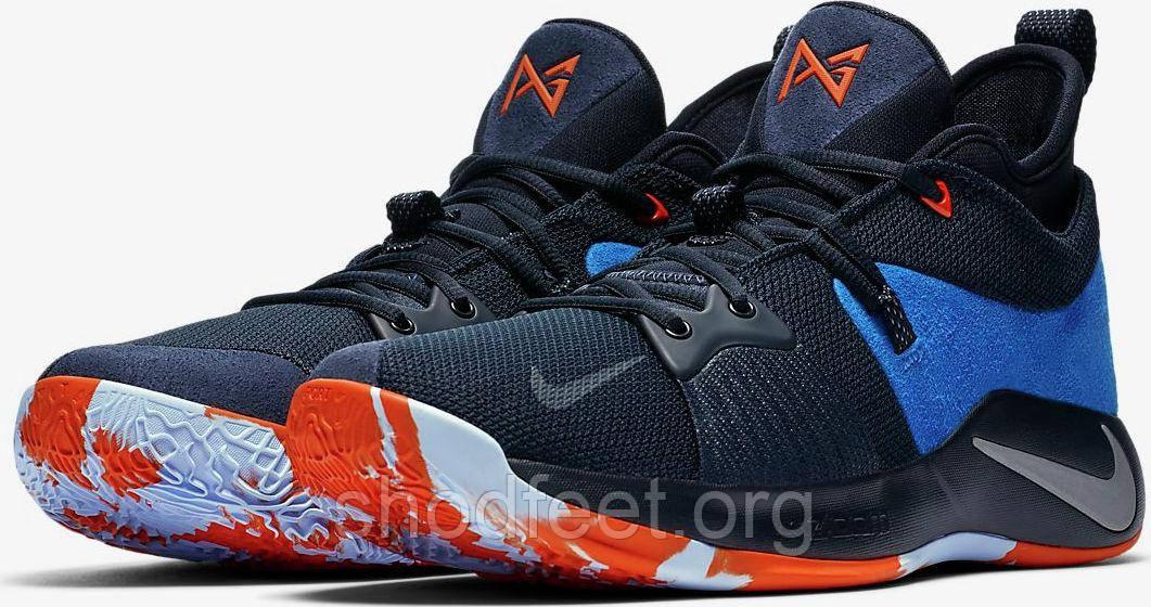 sports shoes 9602b 79854 Мужские баскетбольные кроссовки Nike Zoom PG 2 Playstation Navy Blue