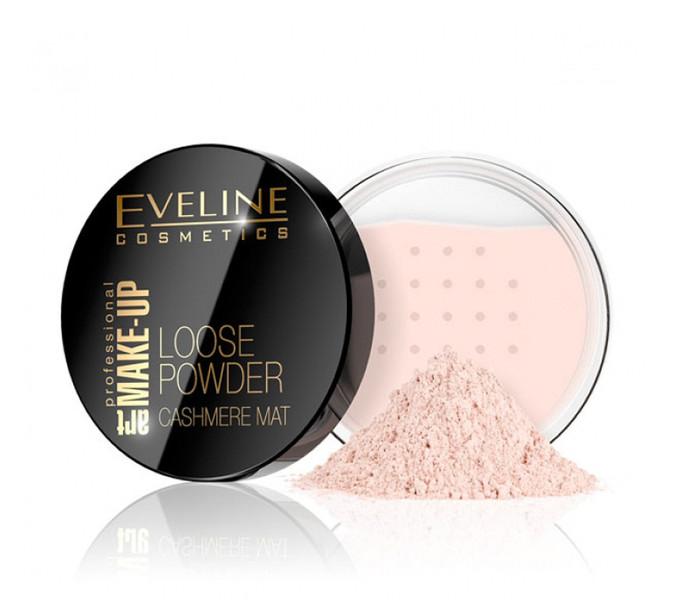 Матирующая рассыпчатая пудра Eveline Cosmetics Loose Powder Cashmere Mat тон № 02