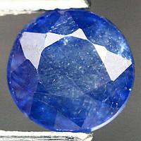 2.63 кт Природный синий сапфир круг 7.4 мм, фото 1