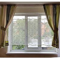 Комплект  штор и тюль  Салатовая полоска, фото 1