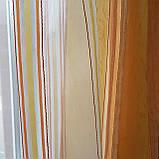 Комплект  штор и тюль  Оранжевая  полоска до подоконника, фото 4