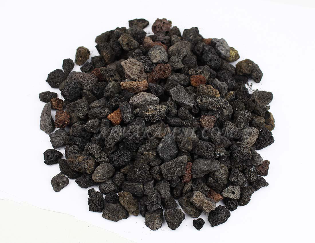 Черная лава вулканическая (10-15мм) 1л
