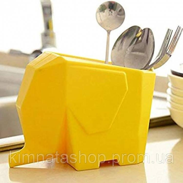 Сушарка для посуду і столових приладів Слон Yellow