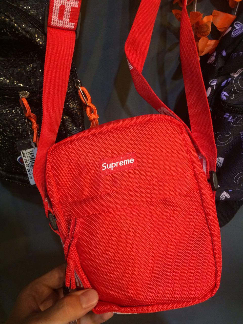 Сумка-Барсетка через плечо Supreme SS18 Red Красная
