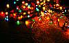 Новогодние гирлянды 100 лампочек микс, черный провод