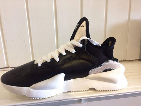 Кроссовки мужские Adidas Yamamoto Y-3 Black/White, фото 2