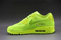 Женские кроссовки Nike Air Max 90 салатовые, фото 1