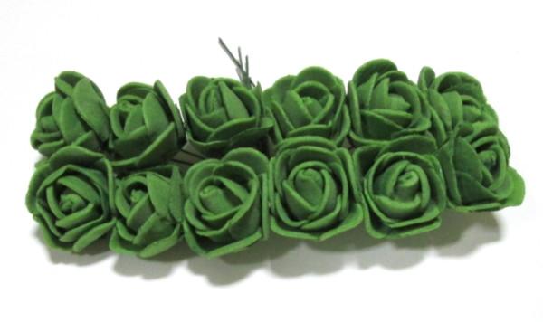 Розочки латекс 10/2,5 см, темно-зеленые