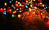 Новогодние гирлянды. 200 лампочек микс, черный провод.