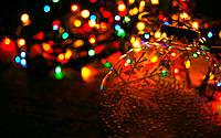 Новогодние гирлянды. 200 лампочек микс, черный провод., фото 1