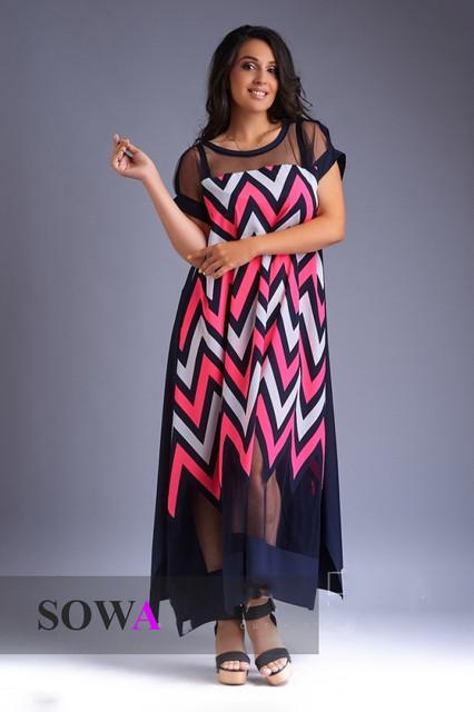 Платья длинные размеры 48+