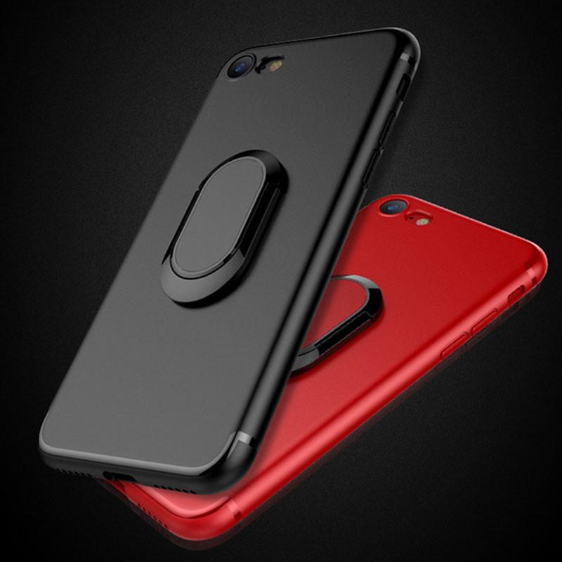 Прорезиненный чехол с подставкой для iPhone 7 Plus/8 Plus