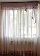 Ламбрекен из розовых нитей, 2м, фото 1