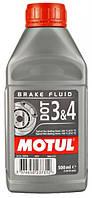 Тормозная жидкость Motul DOT 3&4, 0,5л