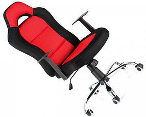 Офисное,компьютерное кресло Drift ,сетка, черно-красное