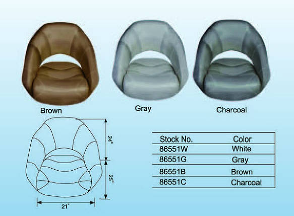 Сиденье Premium Bucket с системой flip-up коричневое, фото 2