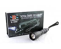 Фонарик Bailong POLICE Q1891-T6, ручной фонарик, фонарь с светодиодом T6, мощный светодиодный фонарь, фото 1