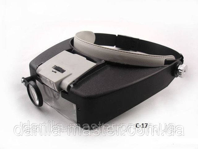 Бинокуляр з додатковою лінзою з підсвічуванням MG81007-A