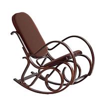 Кресло-качалка PBT Group темная,коричневая,кожа, фото 2