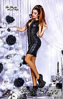 Стильное платье с шипами