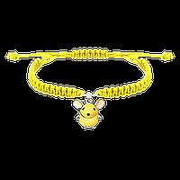 Браслет детский плетеный UmaUmi с серебряным украшением Мышка (301100985)