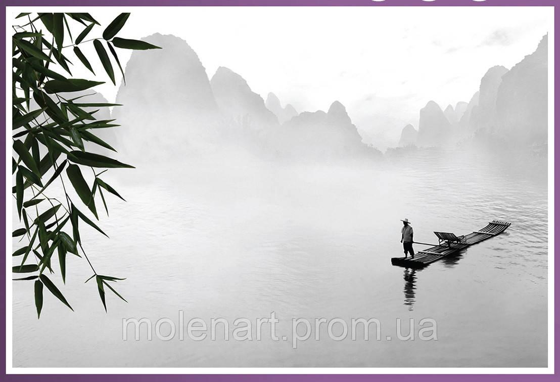 Интерьерная печать. Рисунок - восток туман перспектива.