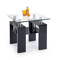 Журнальный столик DIANA H квадратный черный Halmar