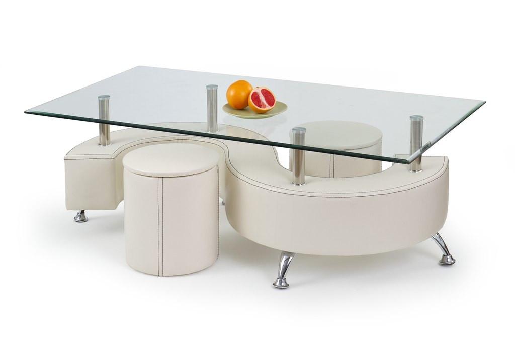 Журнальный столик NINA 3 H белый Halmar