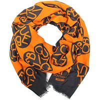 Шарф Moschino Оранжевый с черным (MS-009)