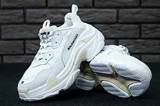 Мужские и женские кроссовки Balenciaga Triple S White/Cream, фото 2