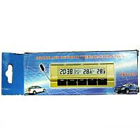 Часы  VST-7037 автомобильные +термометр