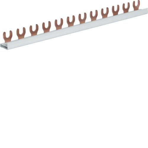 Шина соединительная вилочная Hager KDN163A, 1-полюсная на 12 модулей