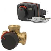 Комплект: Клапан 3-ходовой  ESBE VRG131 Rp 1 DN25 kvs 10 + привод-контроллер CRC111