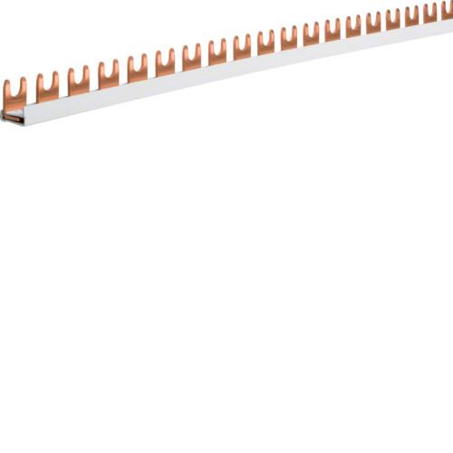 Шина соединительная вилочная Hager KDN163B, 1-полюсная на 57 модулей