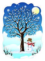 Декорация настенная Зимнее дерево