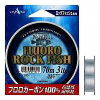 Yamatoyo FLUORO ROCK FISH 70 m CLEAR-FLUORO 0.128mm 2LB/0.9kg