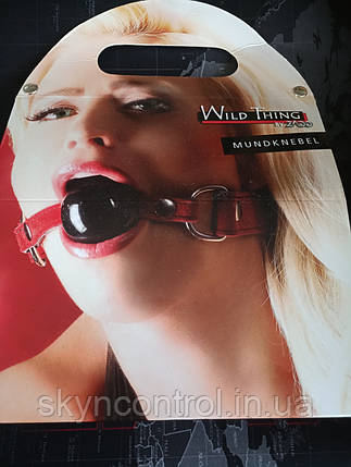 ZADO Кляп с шариком 4,5см Leder Mundknebel S-L, фото 2