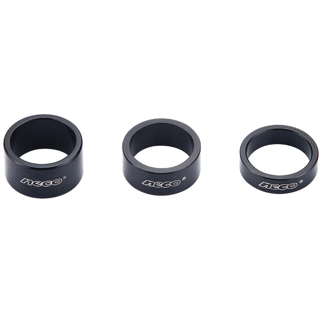 Проставочные кольца (спэйсеры) Neco, черные