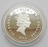 Фэн-Шуй. Карпы Кои, Ниуэ 2 доллара 2012 г. Пруф, фото 2