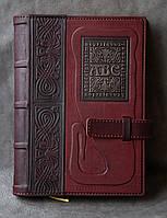 """Кожаный Ежедневник формата А5 """"ABC"""""""