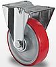 Колесо неповоротне діаметром 125мм з поліуретановим контактним шаром і з роликовим підшипником навантаження 200кг