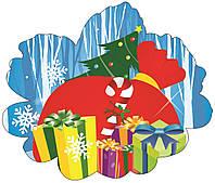 Настенный декоративный новогодний элемент Подарки
