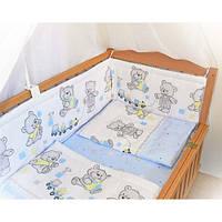 Бортики, бампер в кроватку детскую-№ 143-Мишки игрушки, фото 1